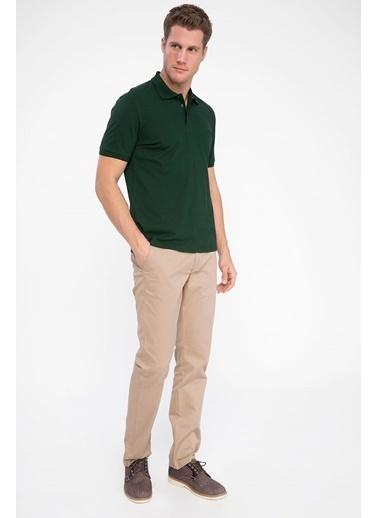 DeFacto Polo Yaka Kısa Kollu T-shirt Yeşil